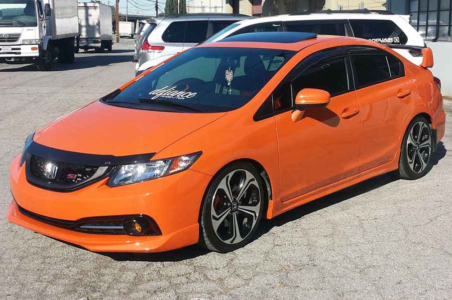 Pro Design Mg Style Side Skirts For 2014 Honda Civic