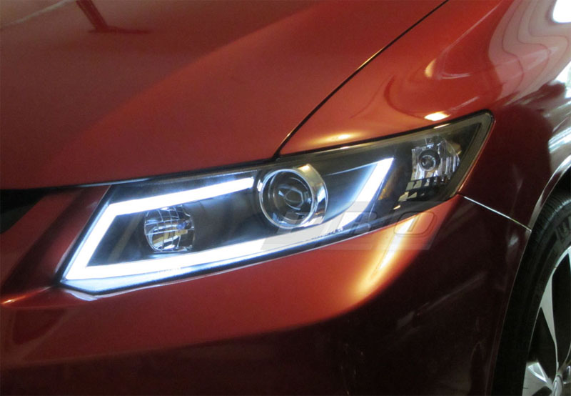 Honda Civic Hf >> PRO Design Black Headlights for 2014 Honda Civic