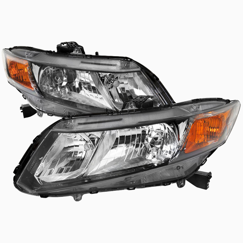pro design black headlights for 2012 honda civic