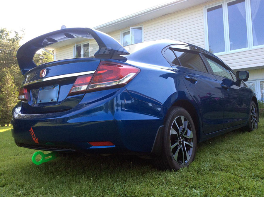 Pro Design Trm Style Spoiler Wing For 2013 Honda Civic