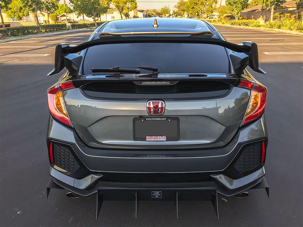 Pro Design Trm Style Spoiler Wing For 2018 Honda Civic