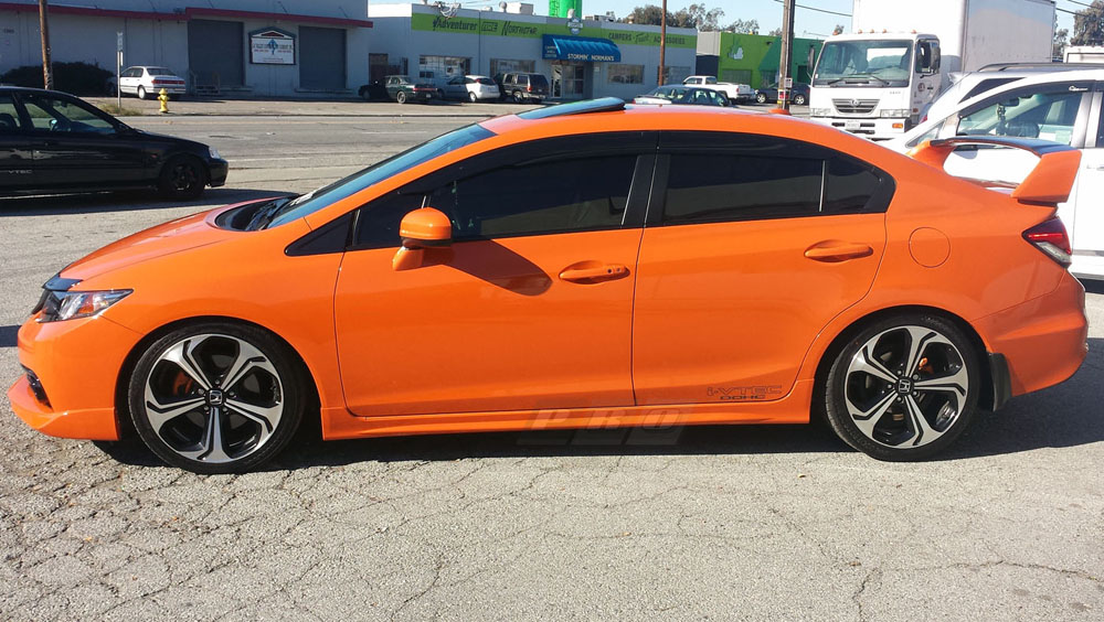 Pro Design Mg Style Side Skirts For 2013 Honda Civic