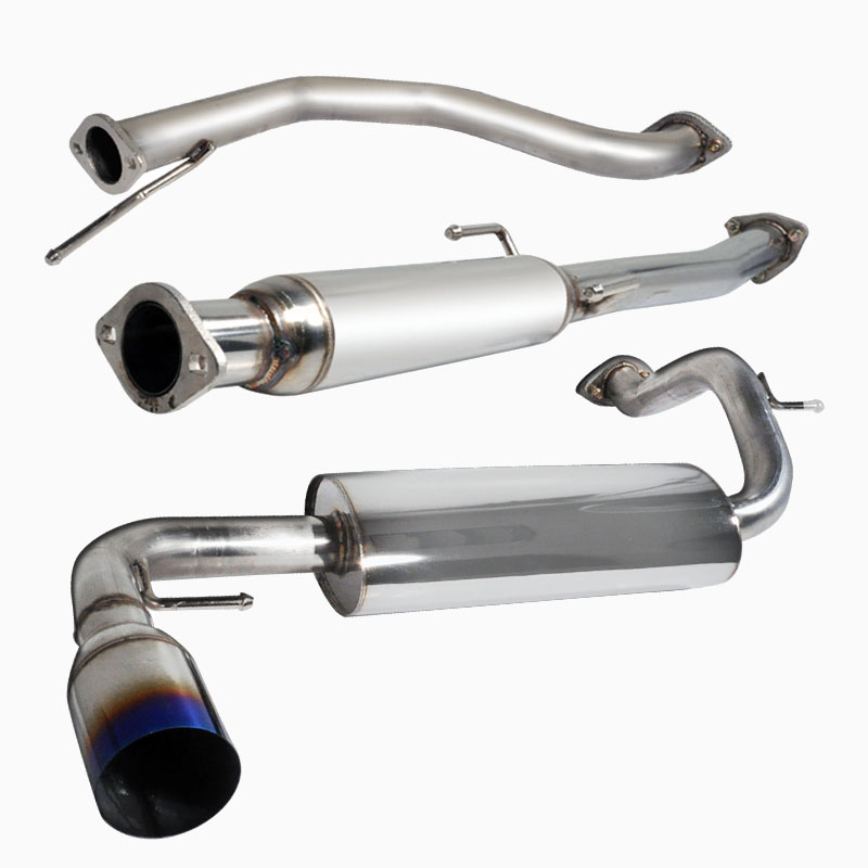 pro design stainless steel exhaust system for 1989 honda civic