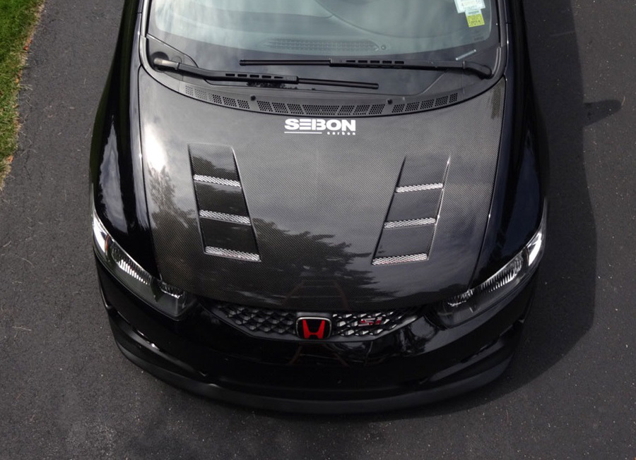 Seibon Ts Style Carbon Fiber Hood For 2009 Honda Civic