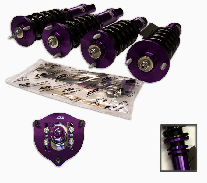 2010 Nissan Versa Suspension: D2 Racing RS Full Coilovers For 2011 Nissan Versa